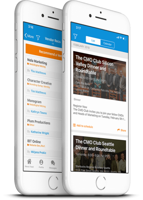 The CMO App on Phone