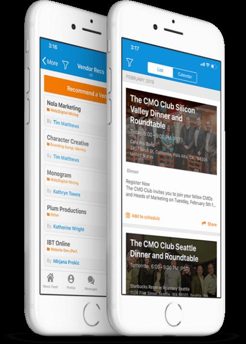 The CMO App on Phone